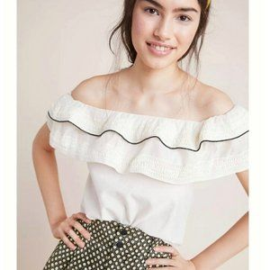 Anthropologie amit Aggarwal Blouse Ivory NWT